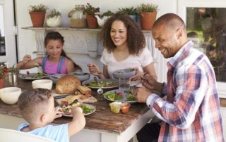 family-at-home-eating